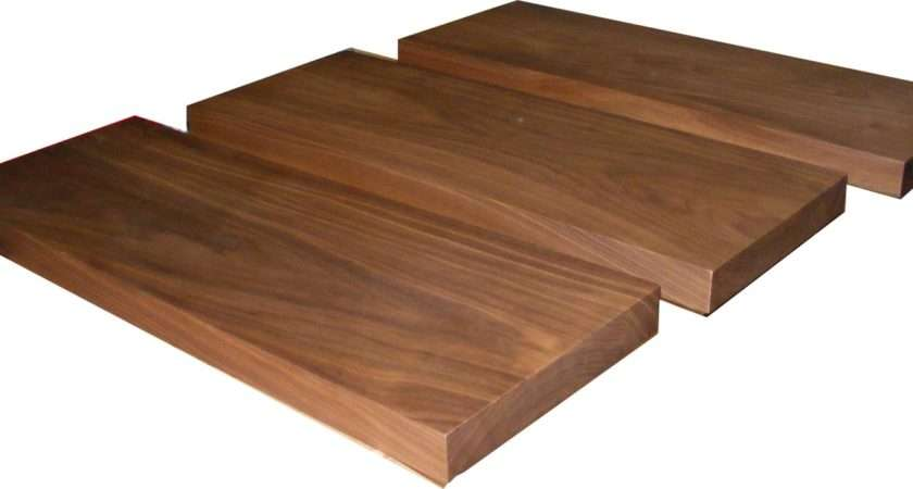Solid American Black Walnut Floating Shelf Thick