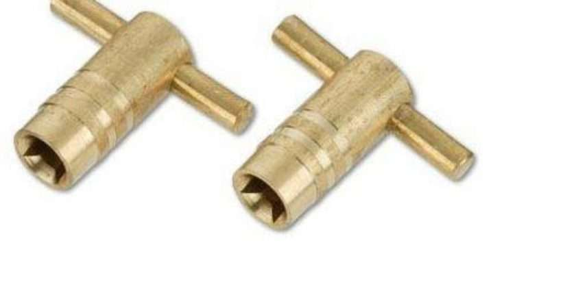 Solid Brass Radiator Bleed Keys Plumbing Tool Key Ebay