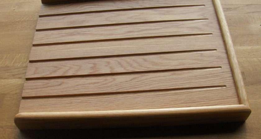 Solid Oak Draining Board Belfast Butler Sink Drainer Ebay