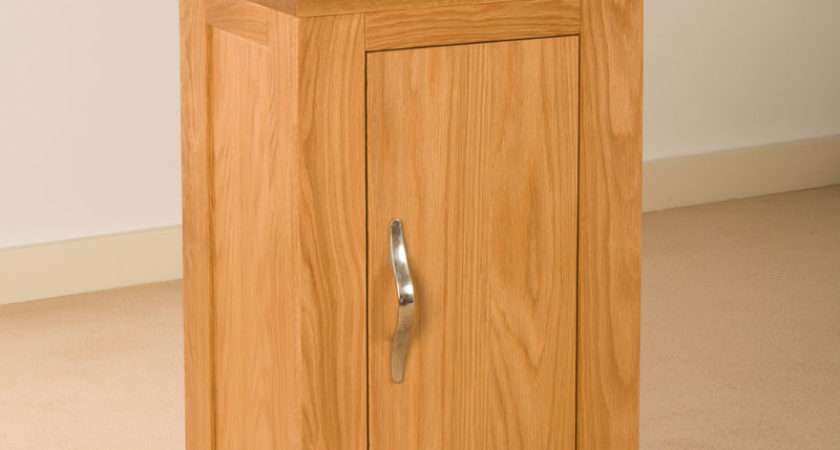 Solid Oak One Door Small Cupboard Cabinet Ebay