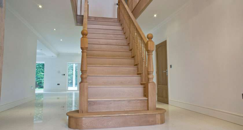 Solid Oak Staircase Cut String Jtsstaircases