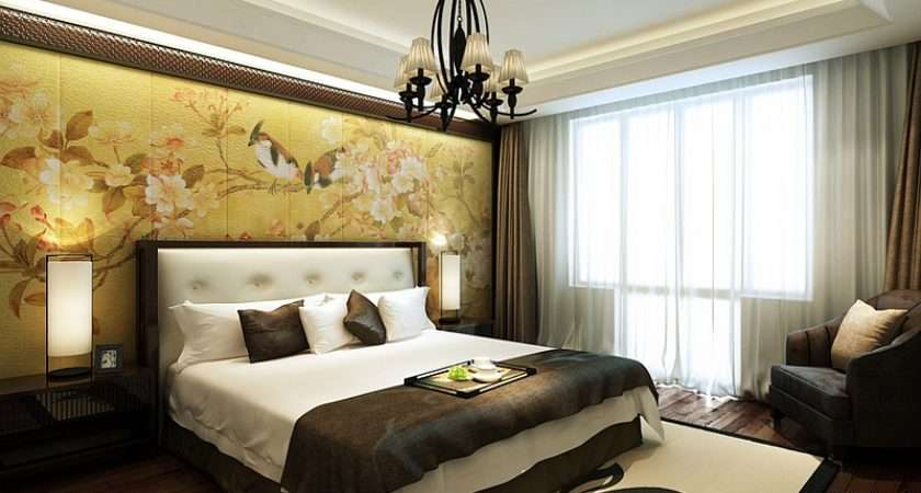 Sophisticated Authentic Asian Themed Bedroom