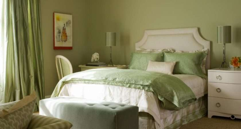 Sophisticated Bedroom Shades Green White Hgtv