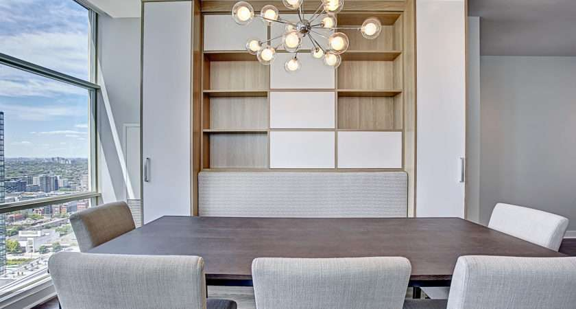 Space Solutions Dining Room Custom Built Wall Unit