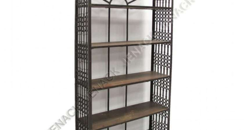 Spanish Colonial Style Wrought Iron Shelf Unit Lot
