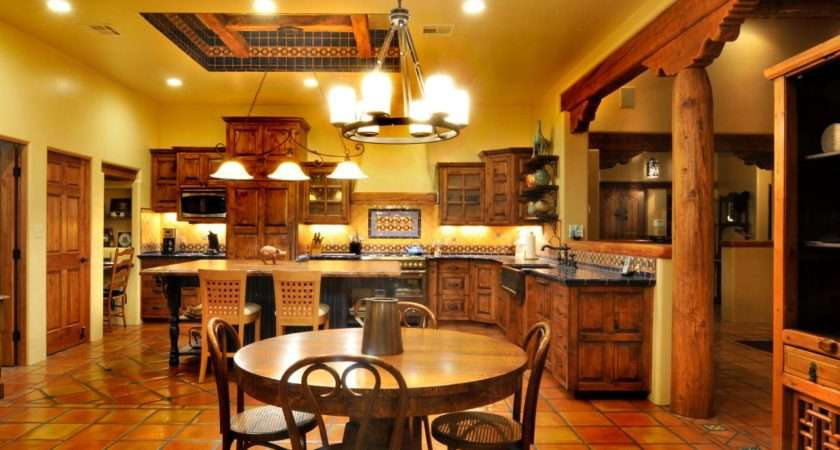 Spanish Style Tile Kitchen Accents Floor Ceiling