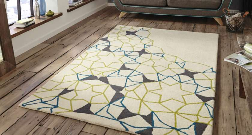 Spectrum Hand Tufted Arrows Stars Rug Wool Modern