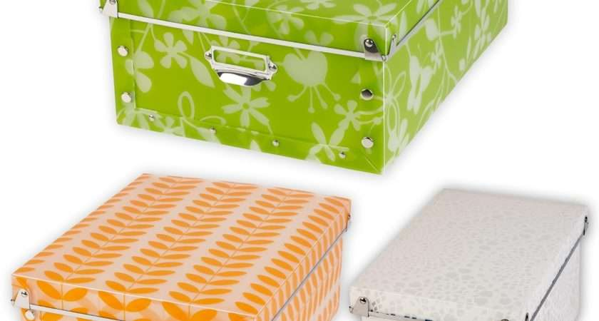 Spizy Plastic Collapsible Patterned Storage Boxes