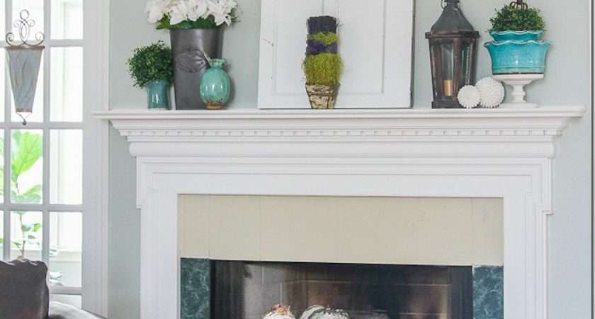 Spring Mantel Decorating Fireplace Wwyd Unskinny Boppy