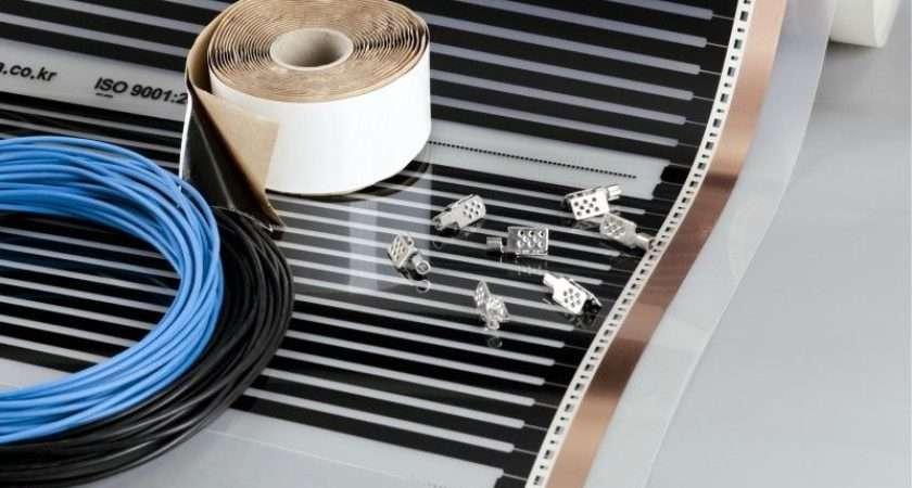 Sqm Underfloor Electric Heating Film Diy Kit Under Laminate
