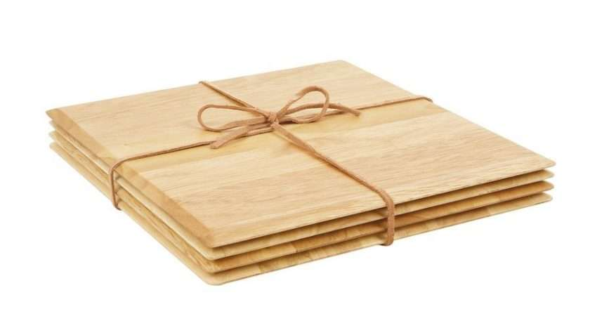Square Wooden Table Mats