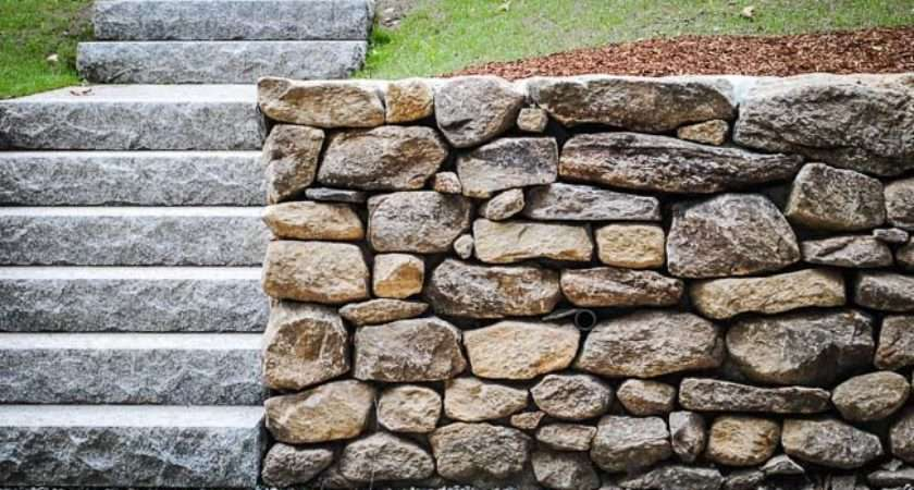 Stacked Stone Wall Custom Built Natural Walls