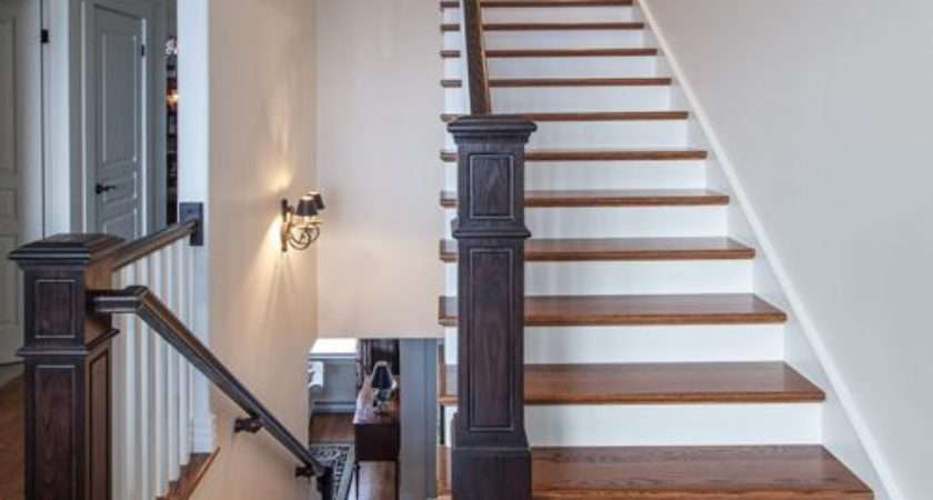 Stained Stair Tread Ideas Home Design