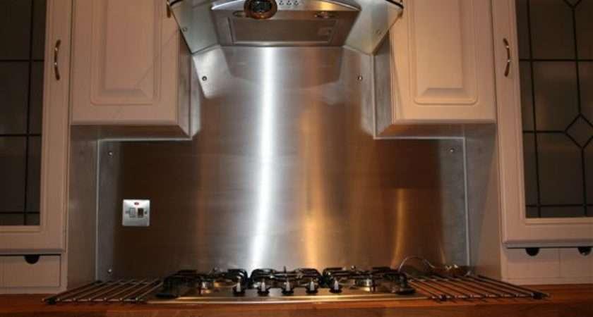 Stainless Steel Splashback Kitchen Polished Grained Sheet