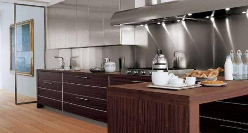 Stainless Steel Splashbacks Linear Kitchen Designs