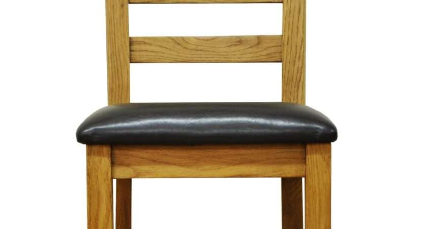 Stamford Oak Ladder Back Chair Solid Wood Lounge
