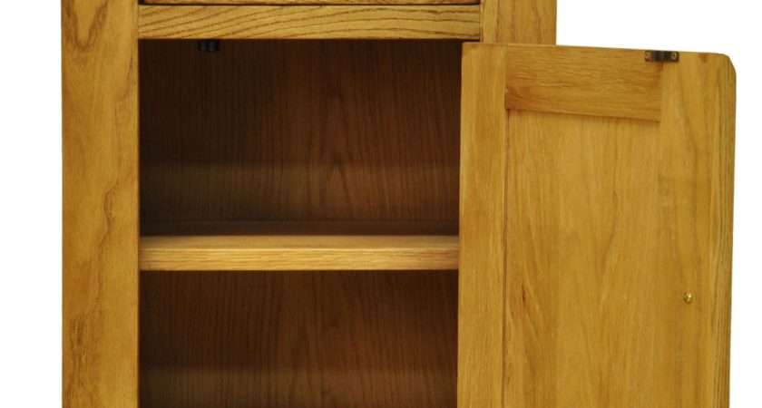 Stamford Oak Small Cupboard Solid Wood Lounge Furniture