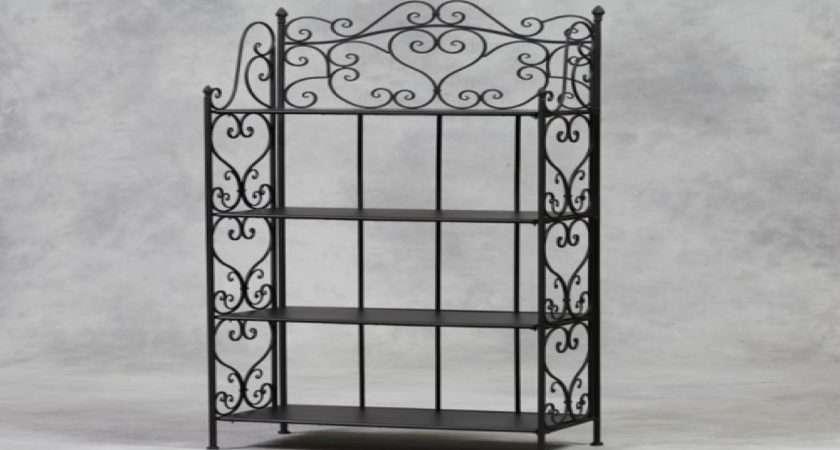 Stand Decorative Shelves Wrought Iron Shelf