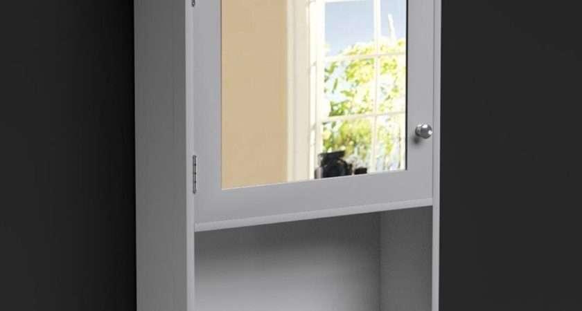 Standing Wall White Bathroom Storage Cabinet Unit