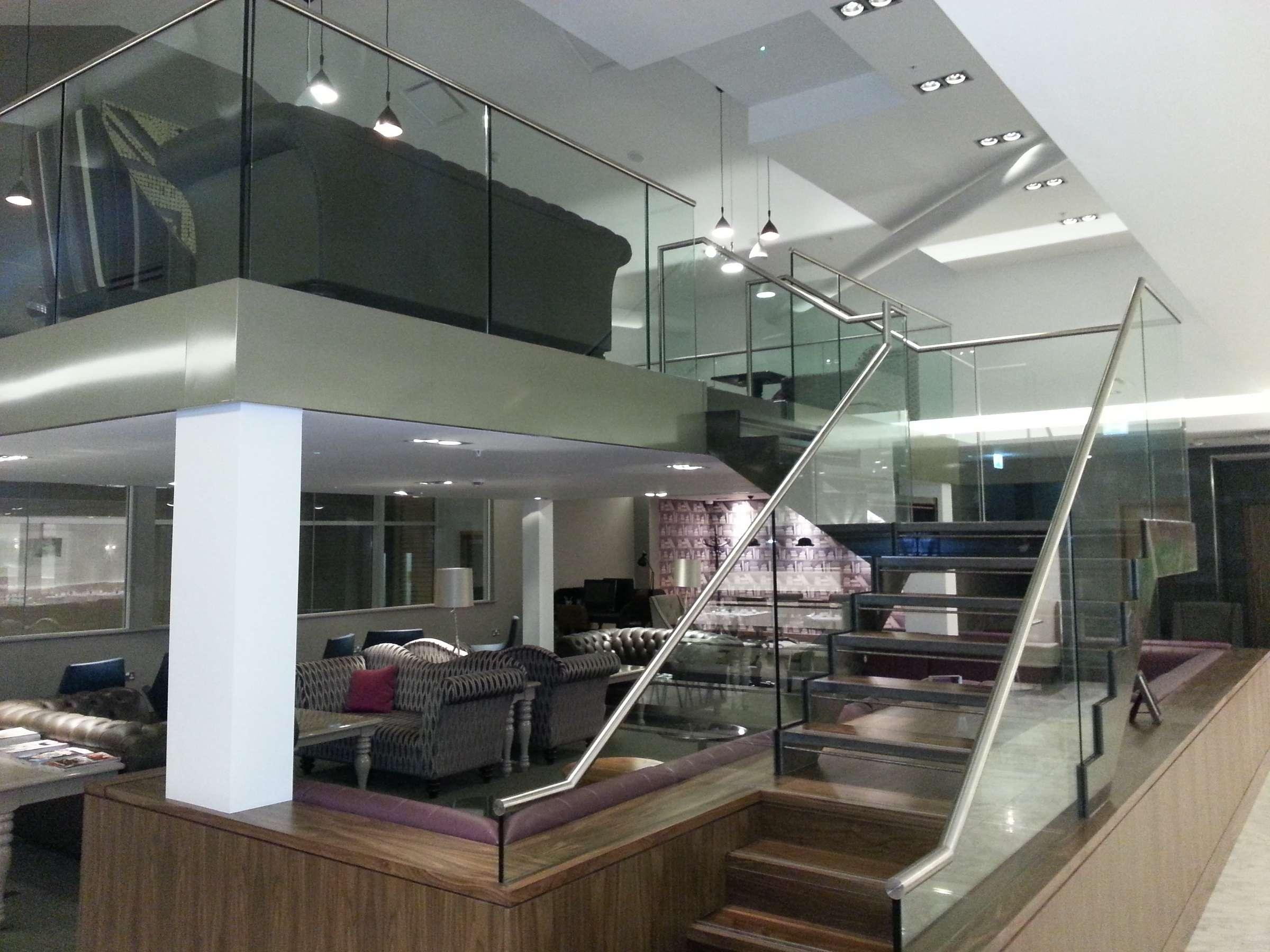 Steel Staircase Stainless Frameless Balustrade Morris