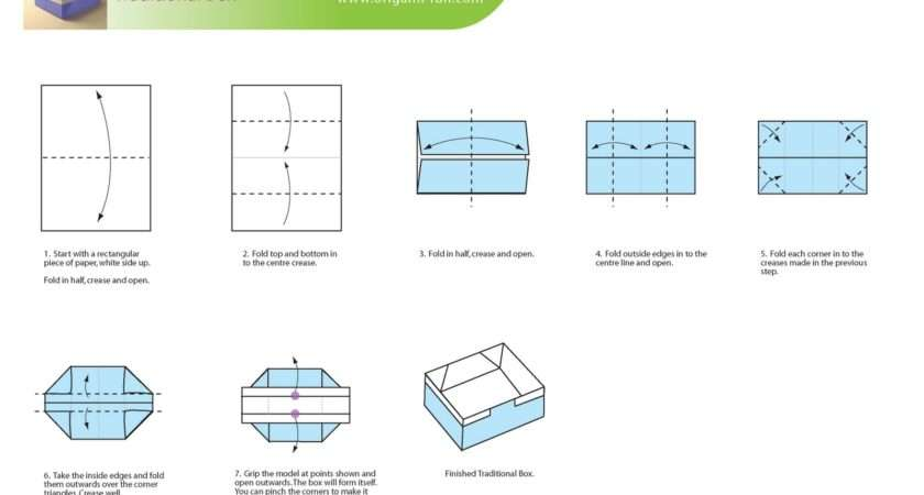 Step Instruction Make Traditional Origami Box