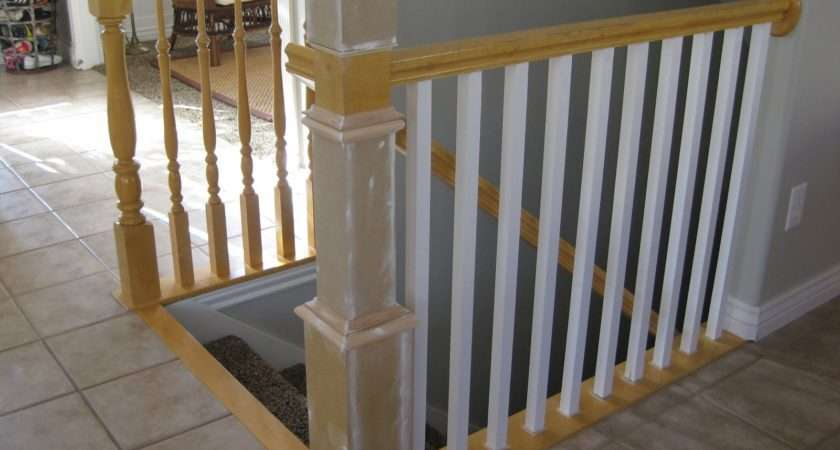 Step Paint Newel Post Bottom Rails Spindles First