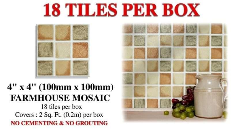 Stick Farmhouse Mosaic Kitchen Wall Tiles Kitchens