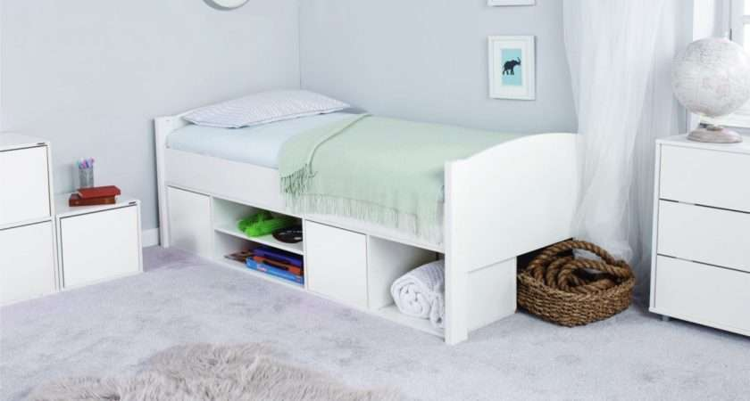 Stompa Unos Storage Cabin Bed Only Kids Single Beds