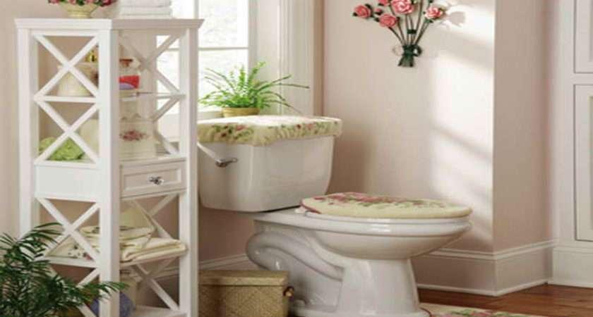Storage White Wooden Bathroom Tower Simple