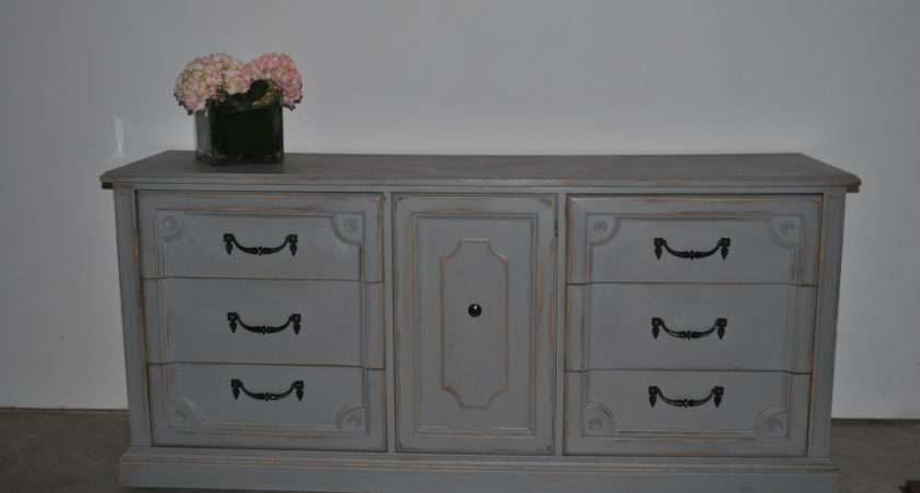Store Available Light Grey Large Dresser Buffet