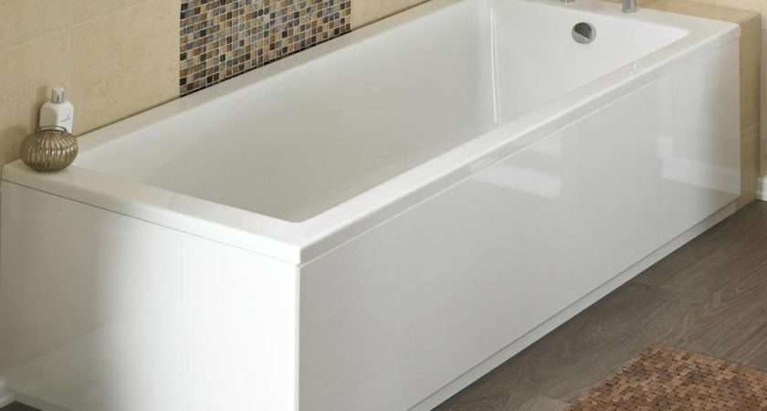 Straight Bath Panels High Gloss Various Sizes Side End