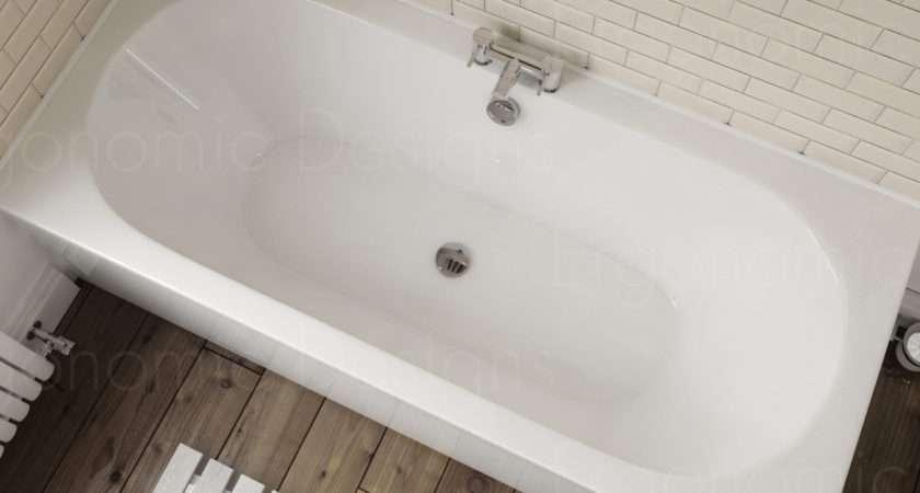 Straight Standard Bath Bathroom Acrylic Round Double Ended