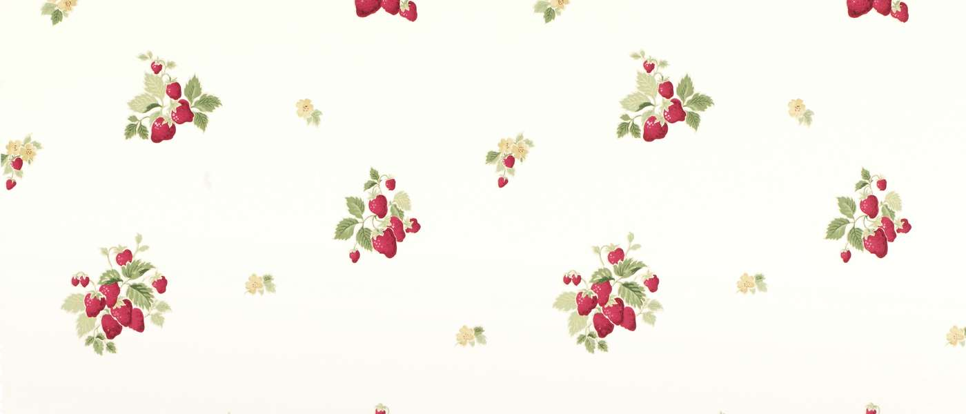Strawberries Cranberry Laura Ashley