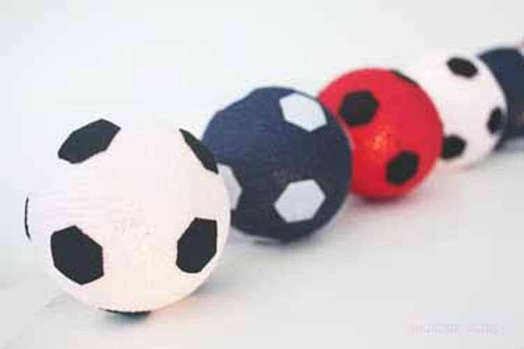 String Red White Blue Fairy Lights Footballs Boys Bedroom Ebay