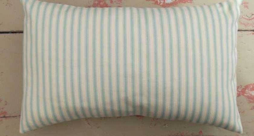 Striped Faux Silk Curtains Duck Egg Blue Cream Eyelet Lined Curta