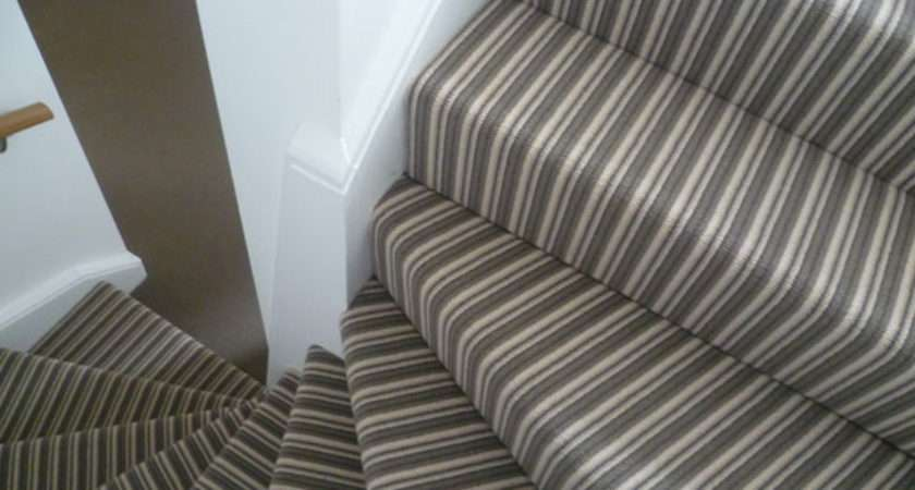 Striped Stairs Contrast Plain Landing Clapham