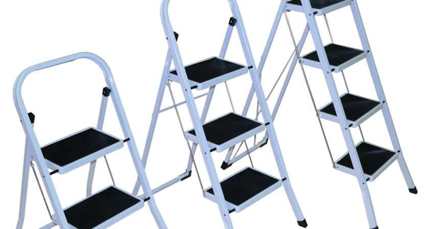 Strong Folding Step Ladder Non Slip Matt Stepladder