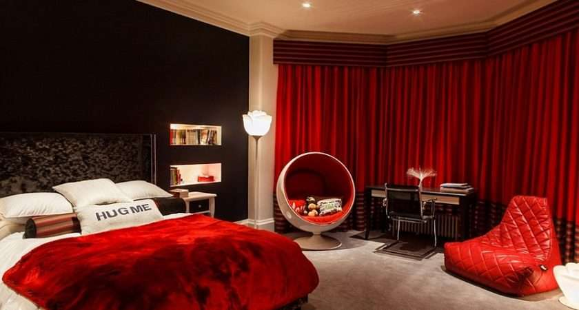 Stunning Bedroom Red Black Leaves Spellbound Photography