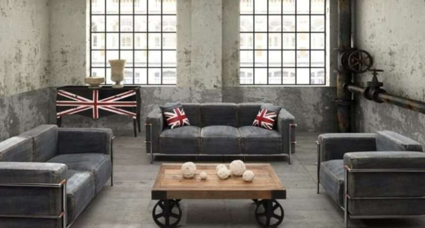 Stunning Industrial Living Room Designs Rilane