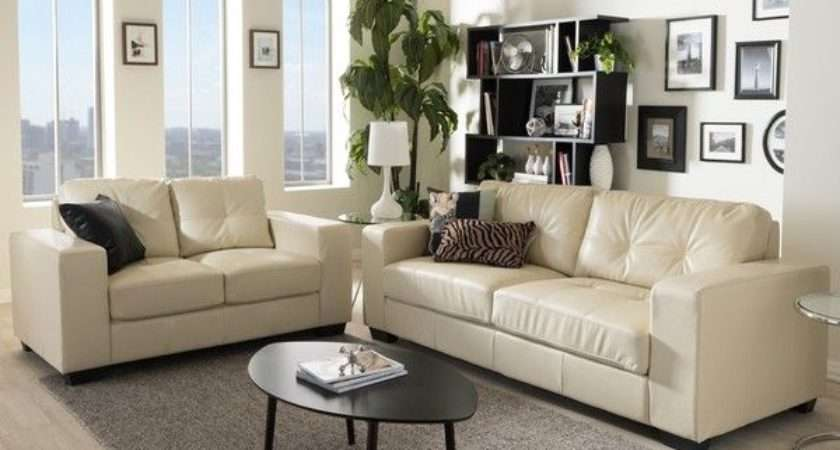 Style Your Living Room Cream Leather Sofa