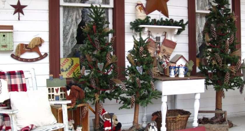 Suesjunktreasures Rustic Country Christmas Front Porch