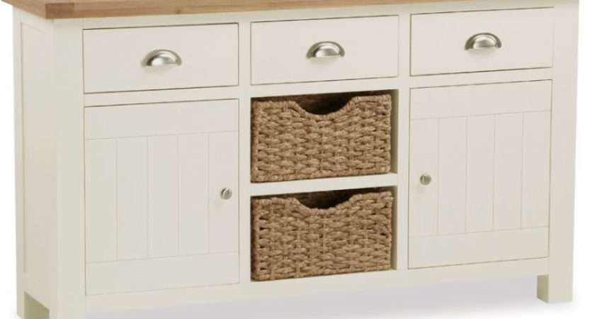 Suffolk Buttermilk Large Sideboard Baskets
