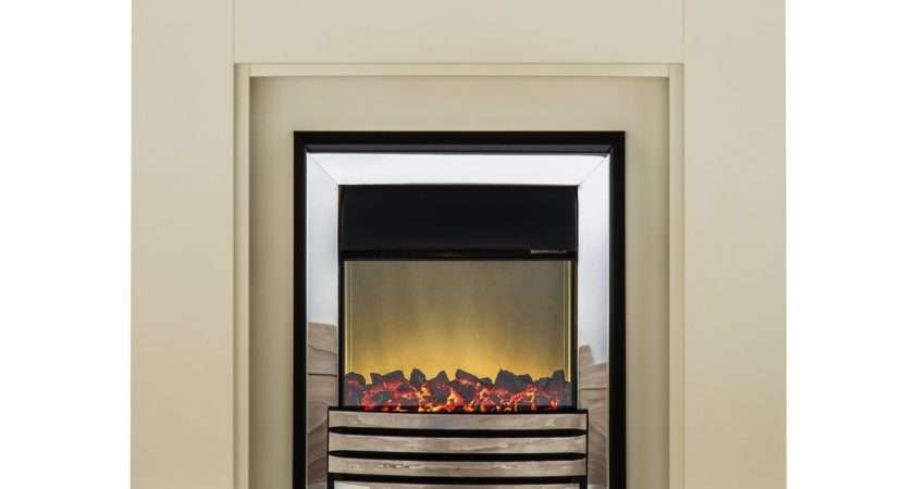 Suite Eclipse Chrome Electric Fire Inch Fireplace World