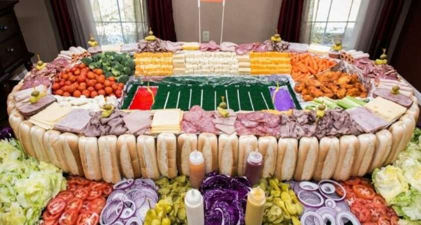 Super Bowl Lunch Mets Tray Cool Food Ideas Entertaining Pinte