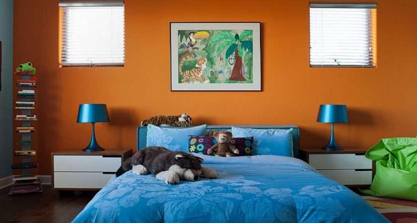Super Hot Trendy Colorful Kids Bedroom Orange Blue