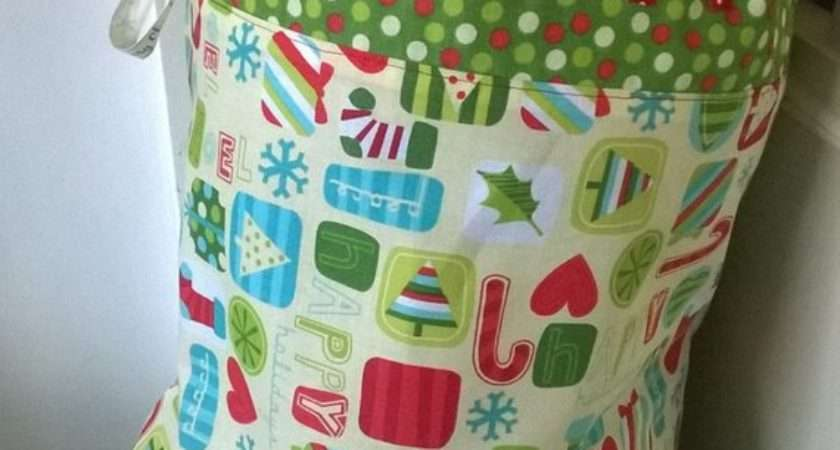 Super Simple Santa Sack Tutorial Easy Peasy Pattern