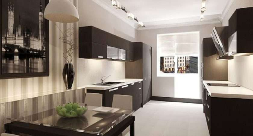 Superb Small Galley Kitchen Design Ideas Attractive Lighting