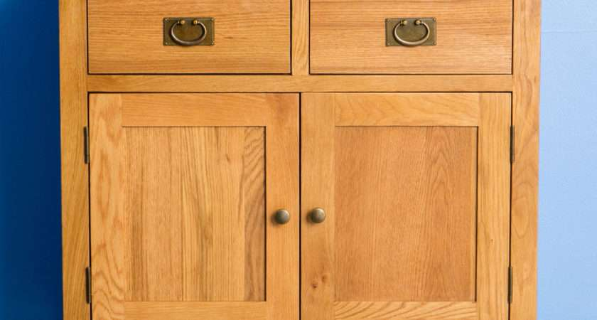 Surrey Oak Small Sideboard Wood Brand