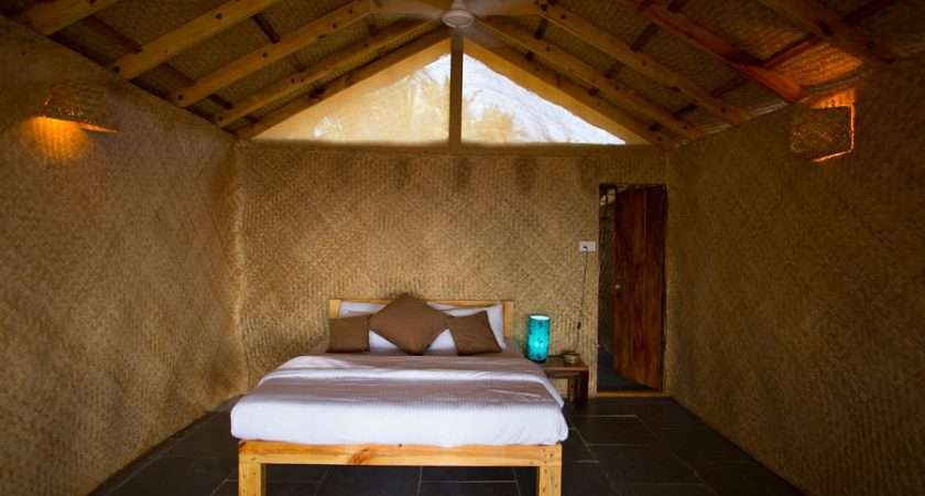 Surya Cafe Huts Beachfront Hut Bedroom