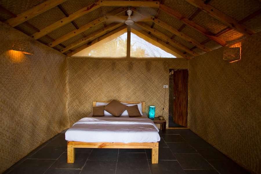 Surya Cafe Huts Beachfront Hut Bedroom